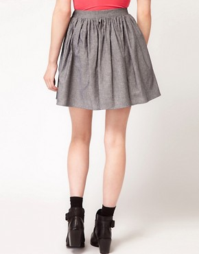 Image 2 ofAmerican Apparel Full Woven Skirt