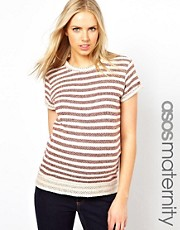 ASOS Maternity T-shirt With Textured Stripe