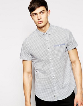 Threadbare Short Sleeve Geo Print Shirt