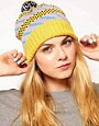 Image 1 ofAll Knitwear Yellow Party Bobble Hat