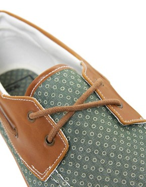 Image 2 ofASOS Boat Shoes With Circle Print