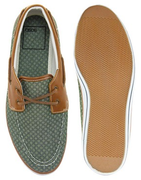 Image 3 ofASOS Boat Shoes With Circle Print