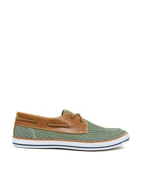 Image 4 ofASOS Boat Shoes With Circle Print