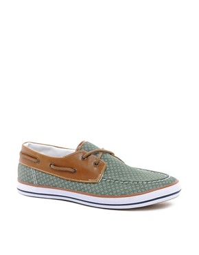 Image 1 ofASOS Boat Shoes With Circle Print