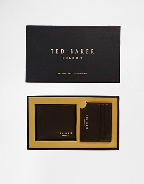 Ted Baker Wallet & Cardholder Gift Set In Brown