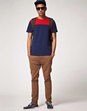 Image 4 ofASOS T-Shirt With Pique Cut And Sew
