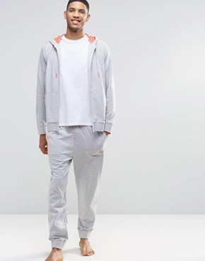 Hugo Boss Cuffed Jogger In Grey Regular Fit