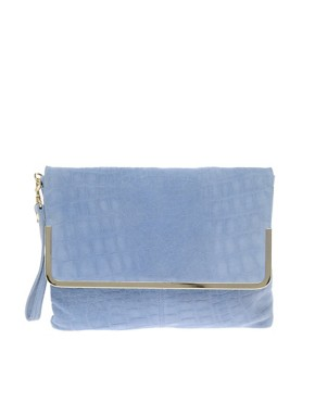 Image 1 ofASOS Leather Bar Clutch