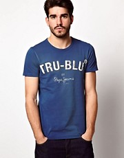 Camiseta con logo True Blu de Pepe Jeans
