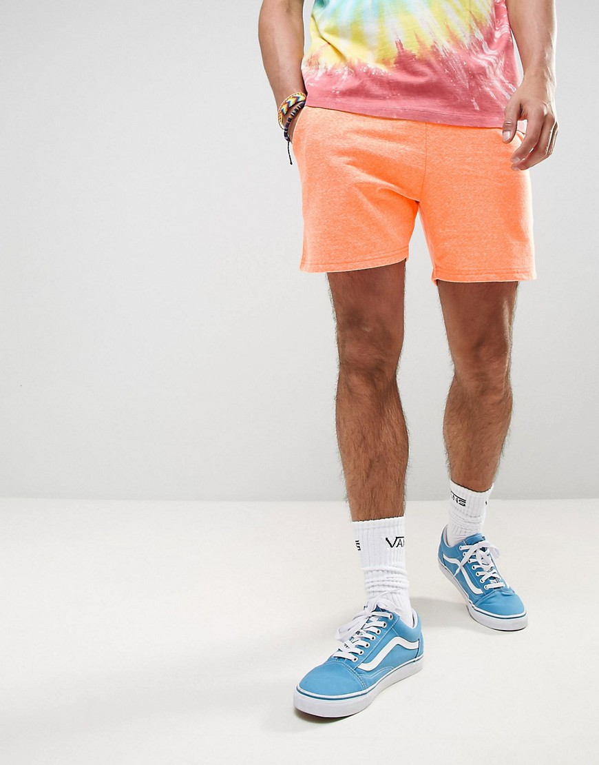 ASOS Festival Fluro Jersey Shorts - Orange