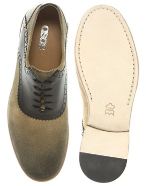 Image 3 ofASOS Saddle Shoes With Leather Sole