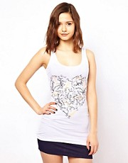 Pieces T-Shirt With Graffiti Heart