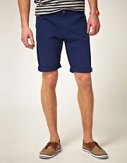 ASOS Denim Shorts In Blue