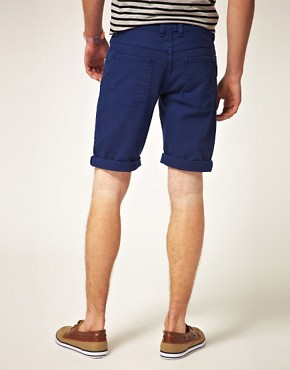 Image 2 ofASOS Denim Shorts In Blue
