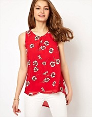 A Wear Fishtail Cami in Daisy Print