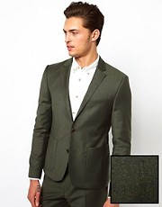 ASOS Slim Fit Suit Jacket in Khaki