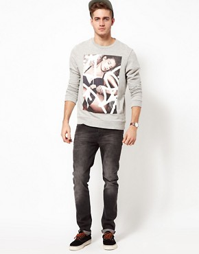 Image 4 ofASOS Sweatshirt With Sexy Model Print