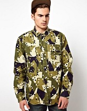 Denim Demon Overshirt Jacket Miltary Camo Print