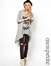 ASOS PETITE Exclusive Never Say Never Dip Back T-Shirt