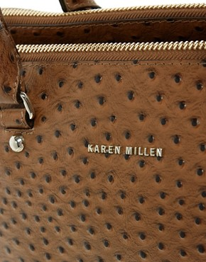 Image 4 ofKaren Millen Signature Leather Ostrich Bowler