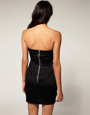 Image 2 ofTFNC Front Detail Bandeau Mini Dress