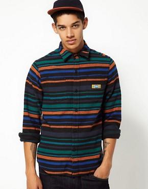 Image 1 ofThe Hundreds Shirt Pretend Stripe