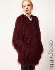 ASOS PETITE Mongolian Fur Jacket