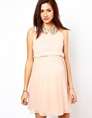 New Look Maternity Sequin Peter Pan Collar Dress