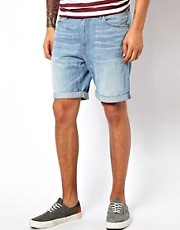 WESC  Conway  Jeans-Shorts in heller Waschung
