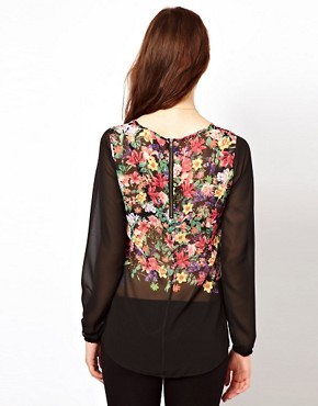 Image 2 ofWarehouse Shell Top In Floral Print