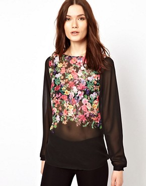 Image 1 ofWarehouse Shell Top In Floral Print