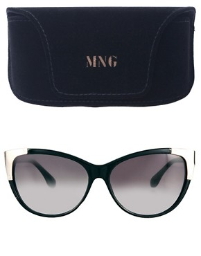 Image 2 ofMango Metal Corner Sunglasses