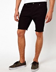 ASOS Denim Shorts With Raw Edge