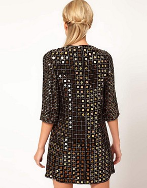 Image 2 ofFrench Connection Solar Heat Sequin Dress