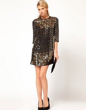 Image 4 ofFrench Connection Solar Heat Sequin Dress