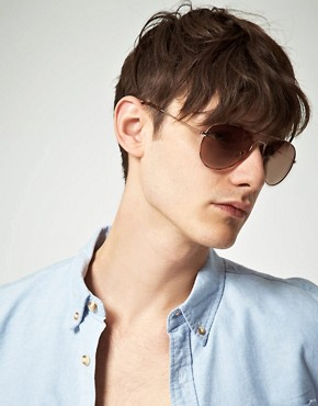 Image 3 ofASOS Ginger Tortoiseshell Aviator Sunglasses