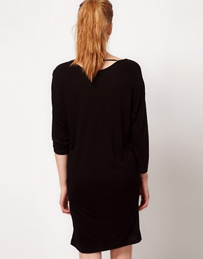 Image 2 ofVila 3/4 Sleeve Draped Jersey Dress