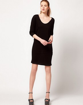 Image 4 ofVila 3/4 Sleeve Draped Jersey Dress