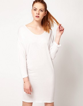 Image 1 ofVila 3/4 Sleeve Draped Jersey Dress