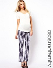 ASOS Maternity Peg Pant in Geo Print