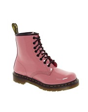 Dr Martens - 1460 Lamper - Stivaletti lucidi rosa acido