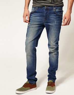 Image 1 ofASOS Dark Wash Skinny Jeans