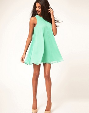 Image 4 ofASOS Swing Dress With Double Layer