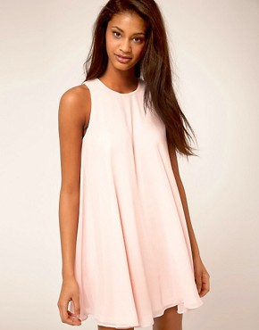 Image 1 ofASOS Swing Dress With Double Layer