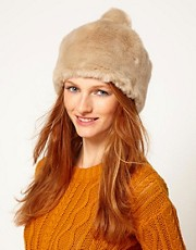 Pieces Faux Fur Bits Hat