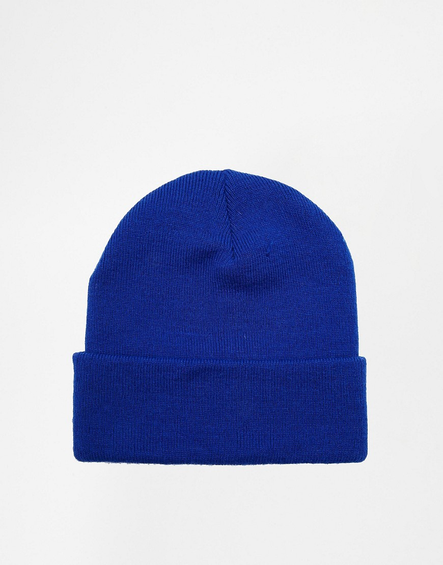 Image 4 ofHype Blue and White Embroidered Beanie