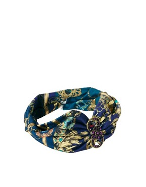 Image 2 ofRiver Island Jewel Print Stretch Head Band