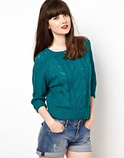 Sessun Cotton Chunky Knitted Jumper