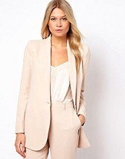Mango Tailored Long Line Blazer