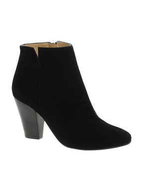 Image 1 ofWhistles Kir Royale Black Suede Ankle Boots